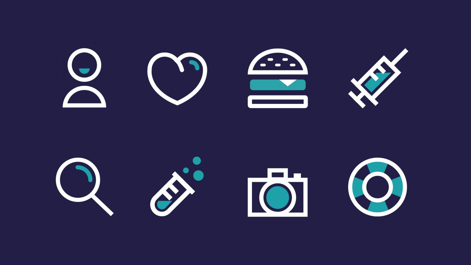 Bigü, set d'icônes vectorielles gratuites - Banner