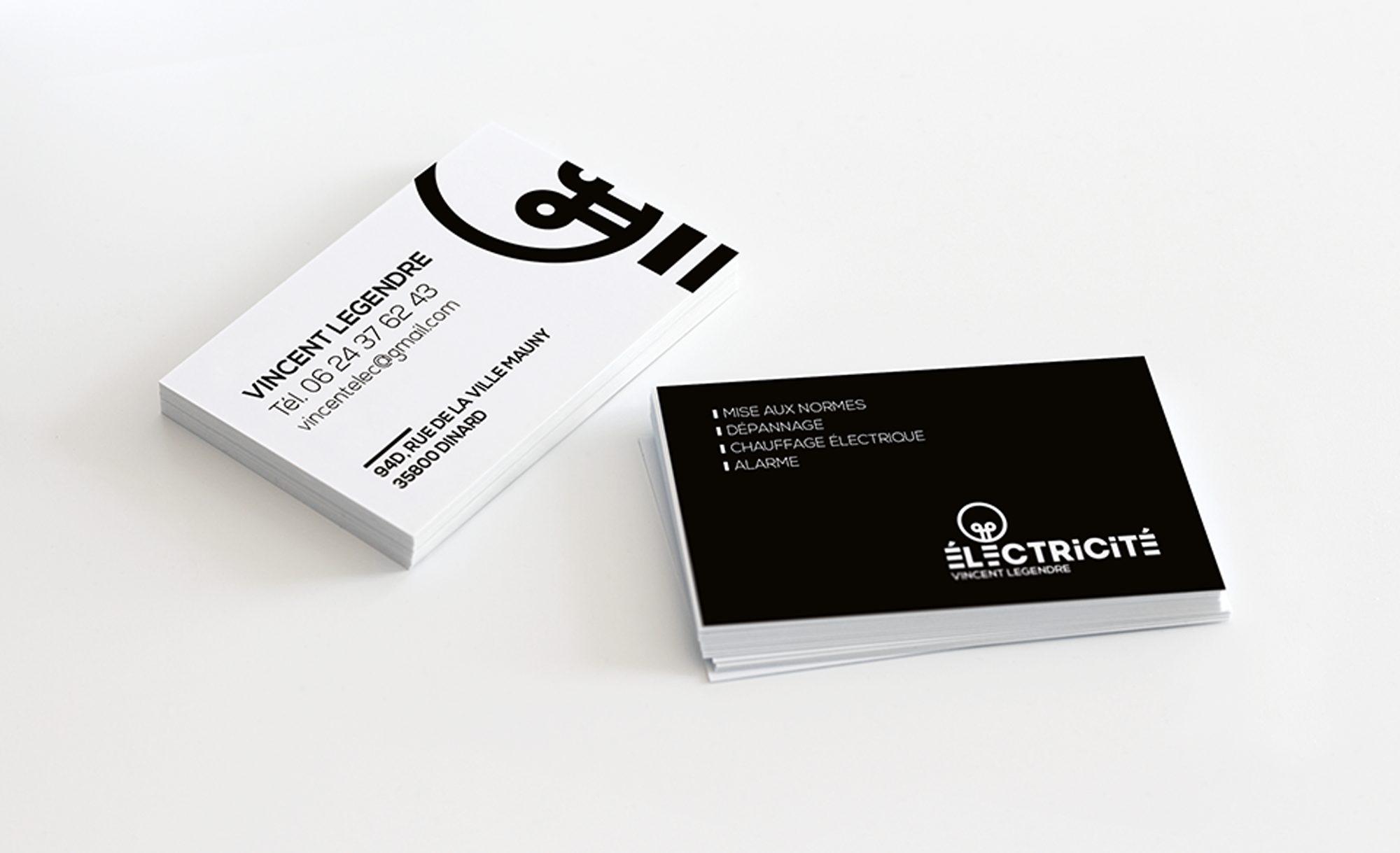 Cartes de visite - Vincent Legendre Électricité