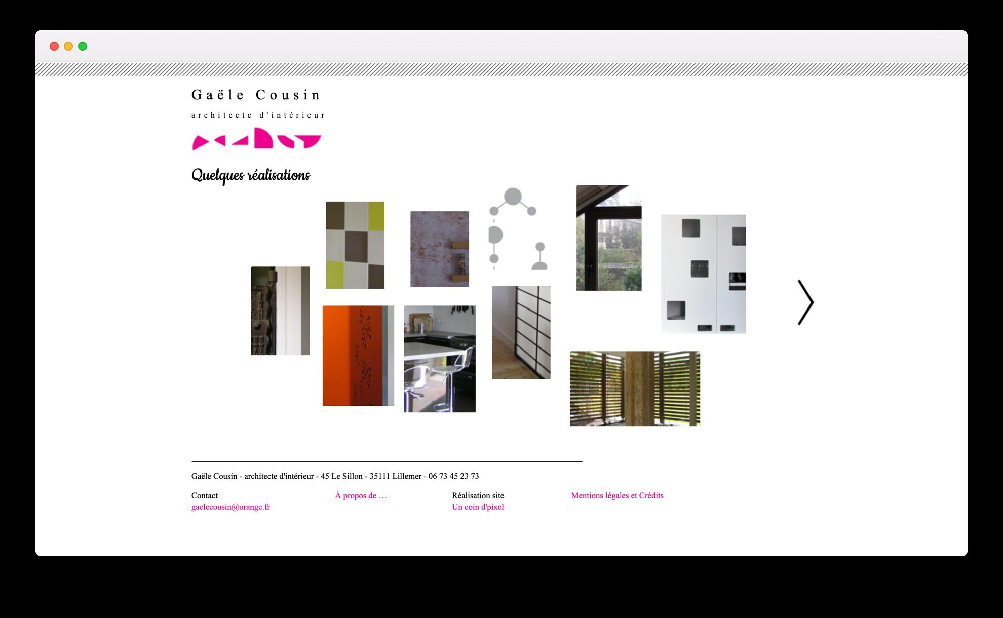 Gaële Cousin - Webdesign