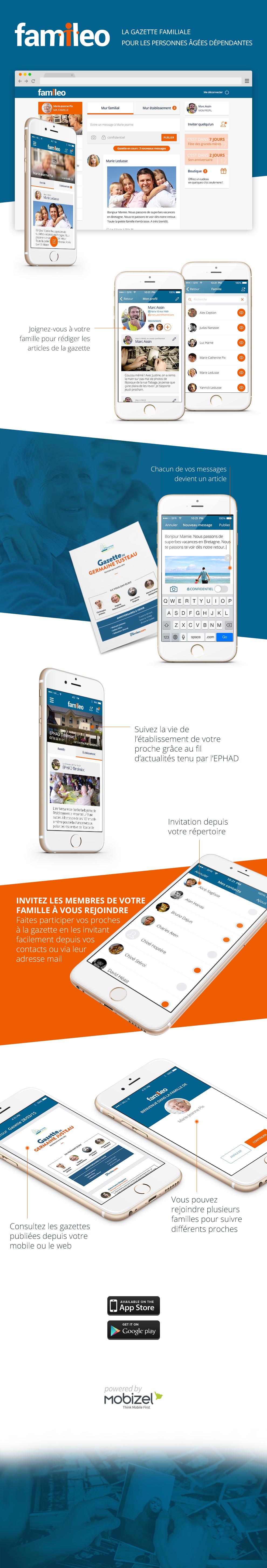 Infographie : Design web et applicatif de Familéo