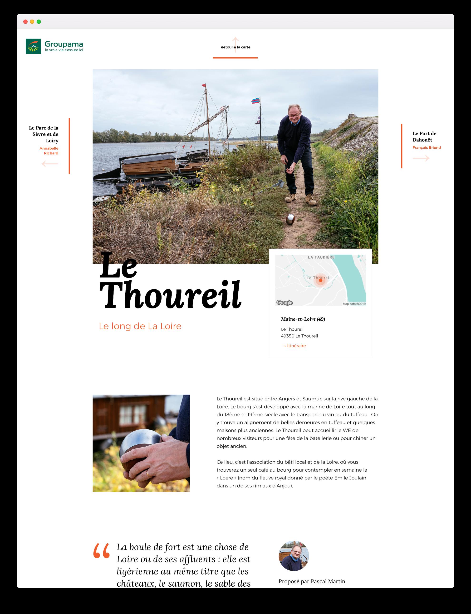 Groupama, carte blanche - Le Thoureil
