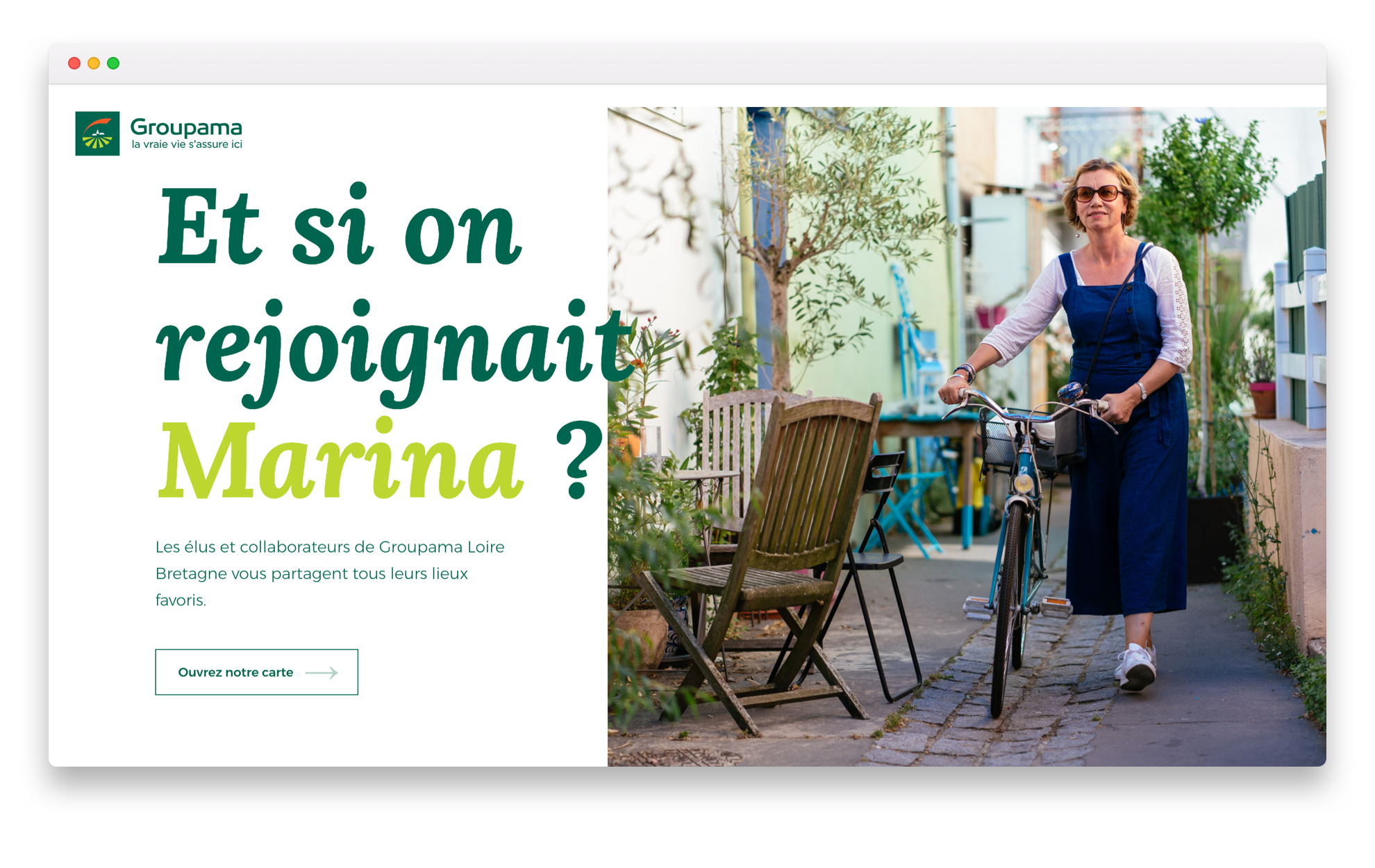 Groupama, carte blanche - Page d'accueil