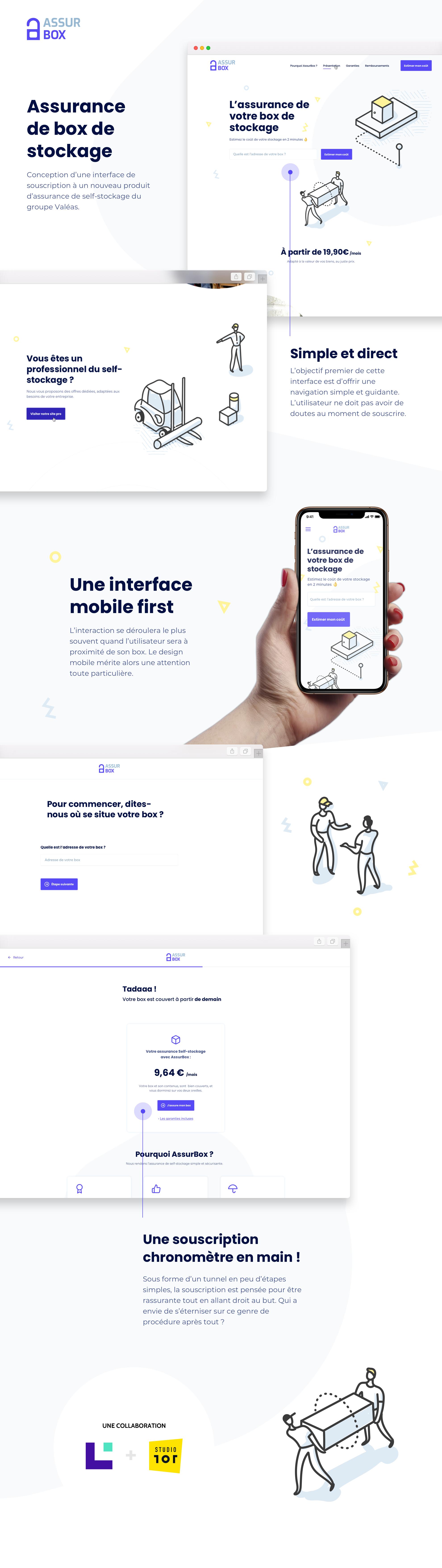 Infographie - Webdesign assurance de self stockage : AssurBox